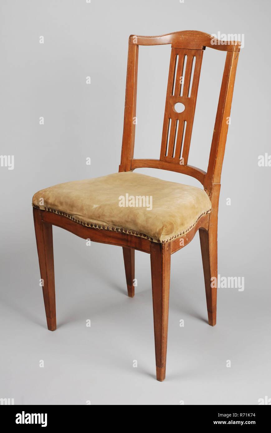 Egret chair chair furniture furniture interior design wood elm beechwood mahogany velvet openwork backrest with four bars green gray velor upholstery