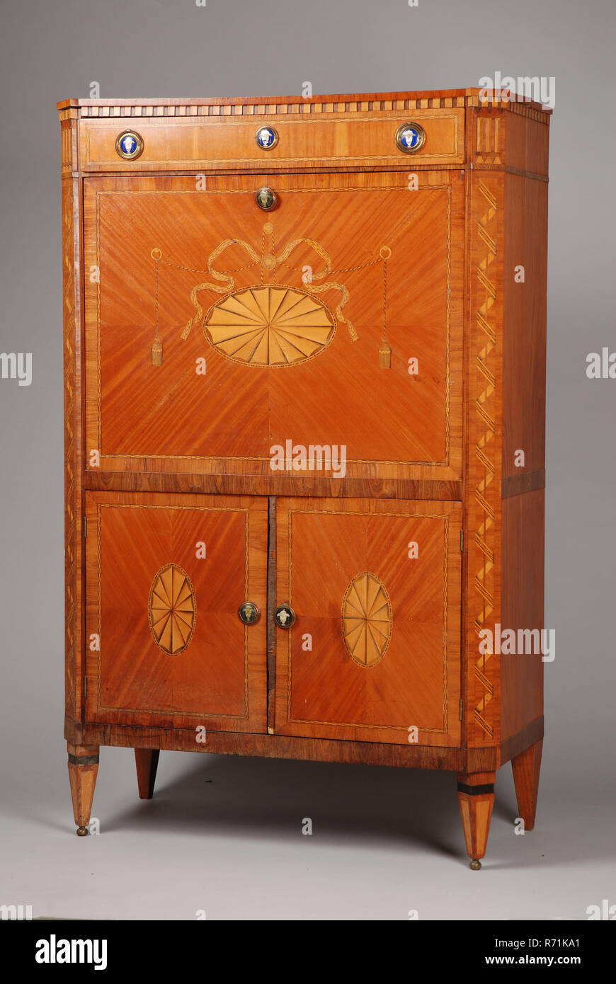 Oak louis seize secretaire secretary furniture furniture interiors wood oak mahogany lemon wood maple wood enamel louis seize oak secretary veneered with