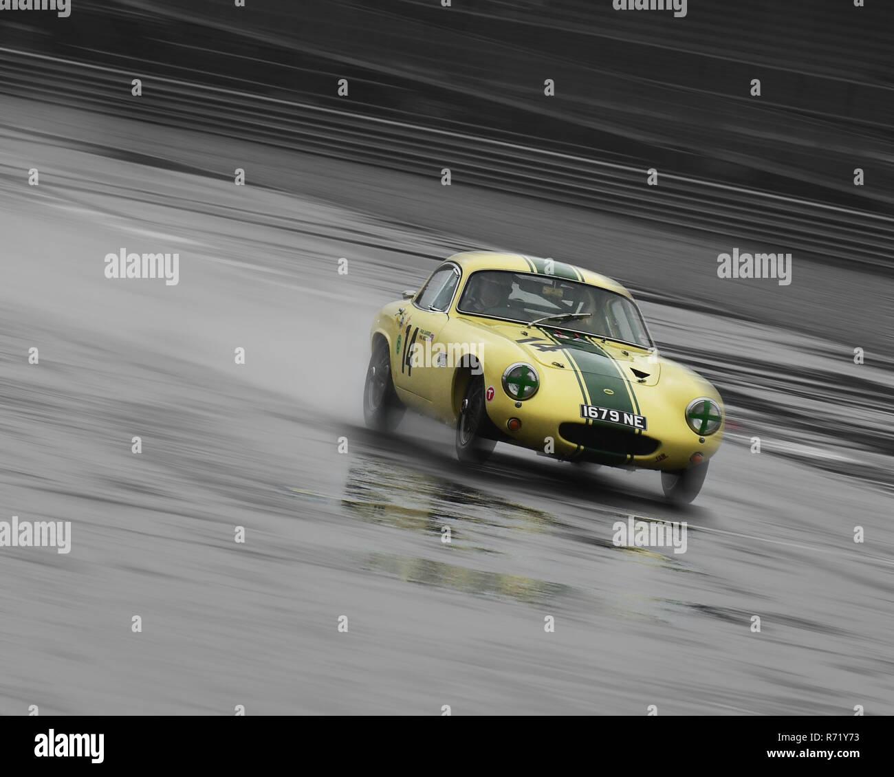 Paul Garside, Lotus Elite, 1679 NE, RAC Tourist Trophy, Historic cars, Pre-63 GT, Silverstone Classic 2015, Chris McEvoy, circuit racing, cjm-photogra - Stock Image