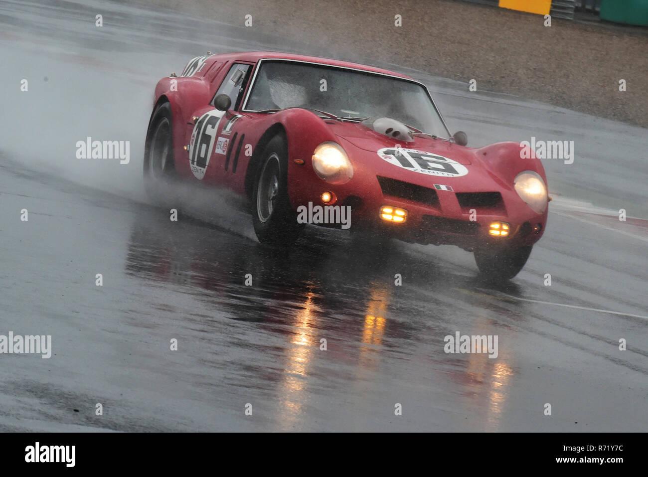 Lukas Halusa, Niklas Halusa, Ferrari 250GT, Ferrari Breadvan, RAC Tourist Trophy, historic cars, pre-63 GT, Silverstone Classic 2015, Chris McEvoy, cj - Stock Image