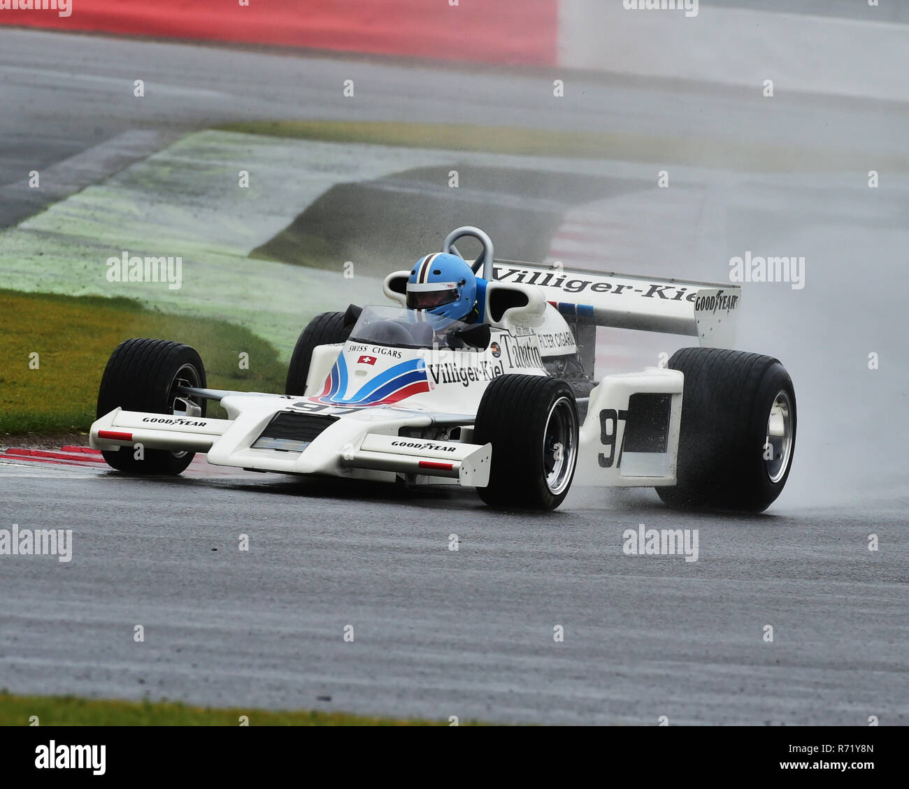 Jamie Constable, Shadow DN8, FIA Masters, Historic Formula One, Silverstone Classic 2015, Chris McEvoy, circuit racing, cjm-photography, Classic Racin - Stock Image