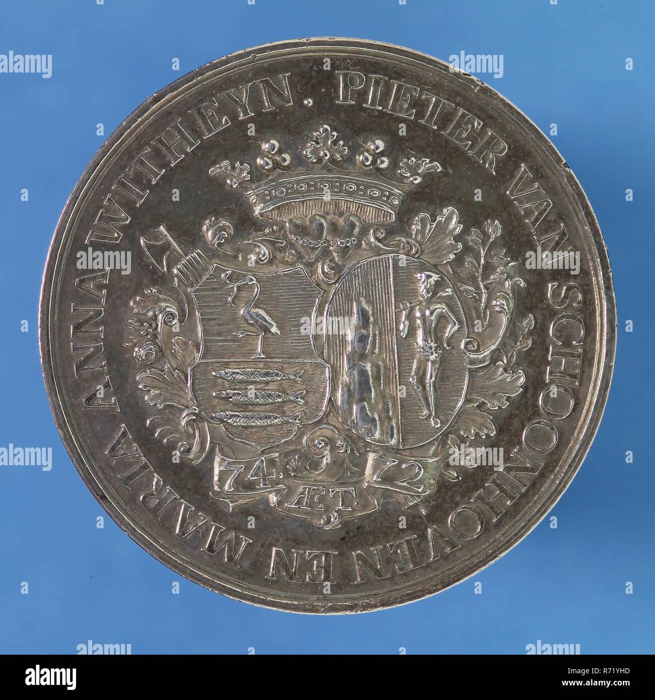 J C  Marmé, Medal on the 50th wedding of Pieter van
