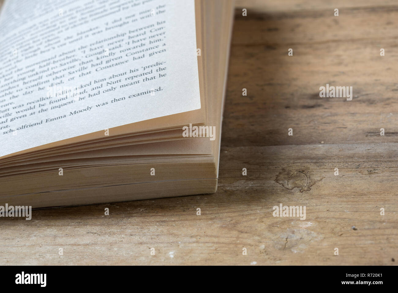 An old paperback book - Stock Image