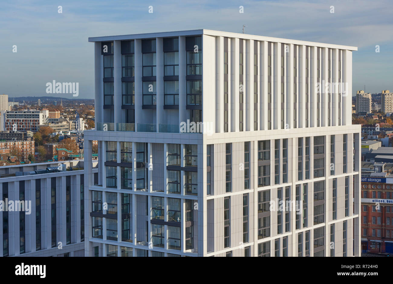 Apartment building Battersea Park area, SW London,UK - Stock Image