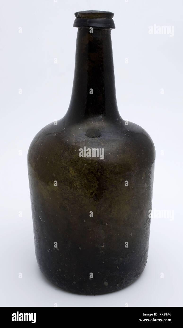 Cylindrical Bottle Wine Bottle Bottle Holder Soil Find Glass In
