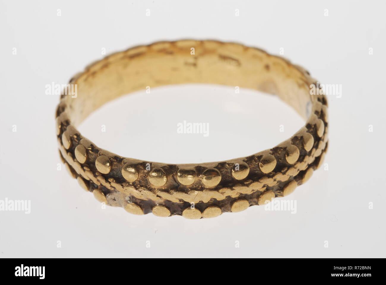 Goldsmith Hubertus Jongeneel Gold Wedding Ring Wedding Band Ring