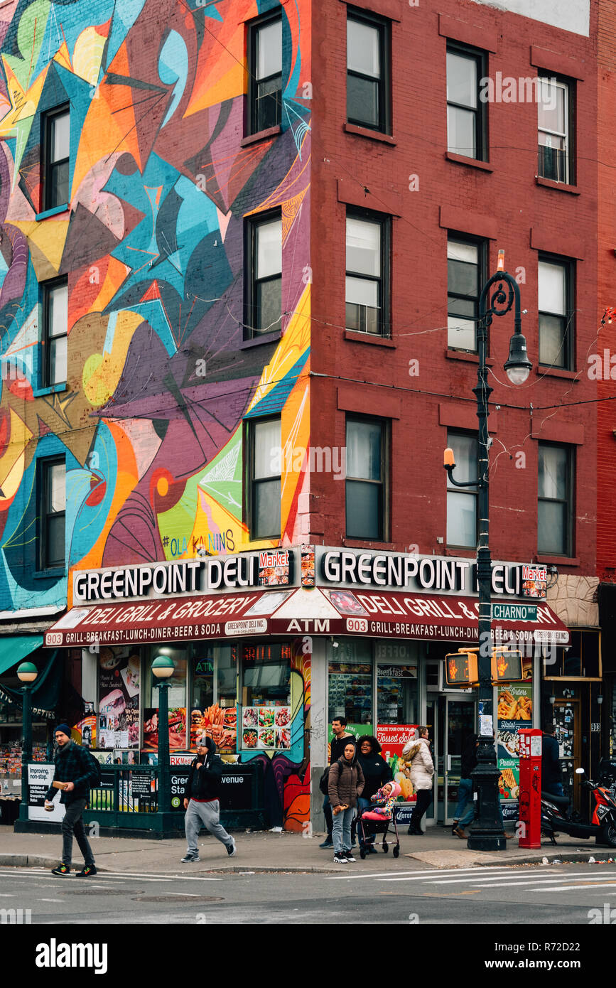 Greenpoint Deli, in Brooklyn, New York City - Stock Image