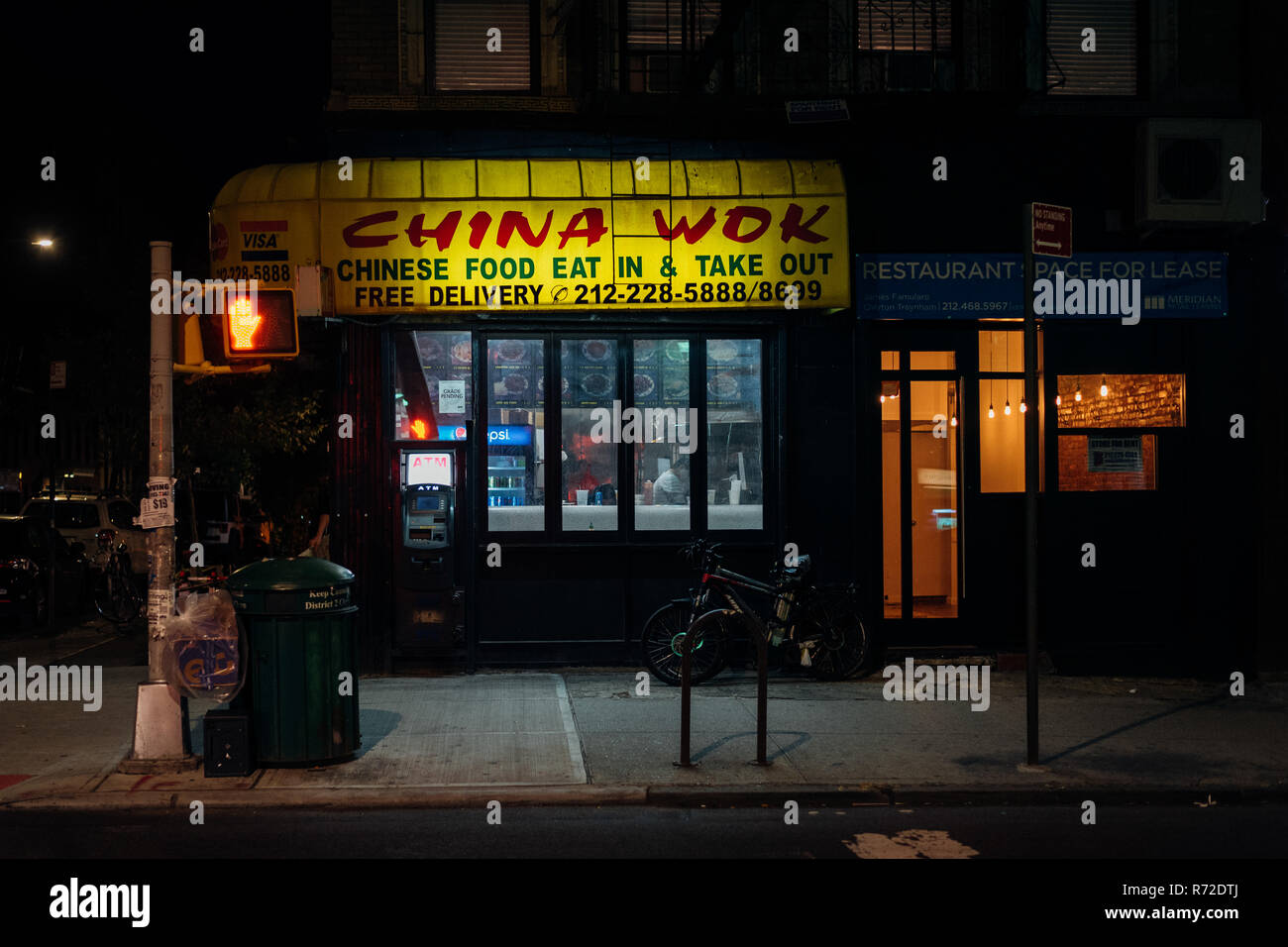 China Wok Restaurant At Night In The East Village