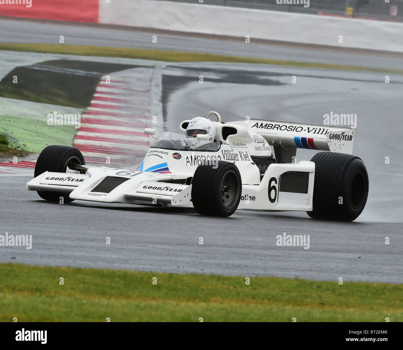 Jason Wright, Shadow DN8, FIA Masters, Historic Formula One, Silverstone Classic 2015, Chris McEvoy, circuit racing, cjm-photography, Classic Racing C - Stock Image