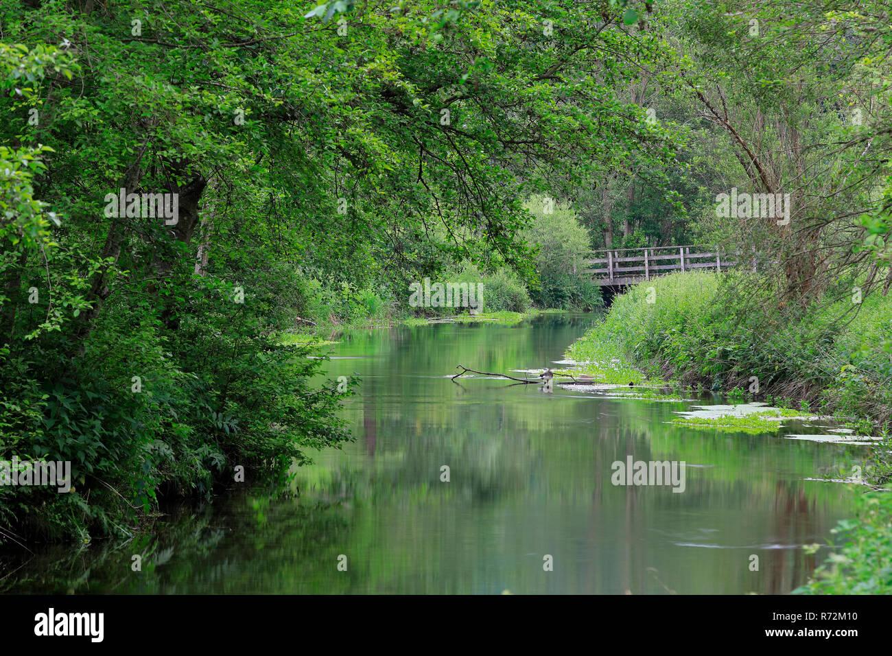 River Lauchert, Lauchert Valley, Germany - Stock Image