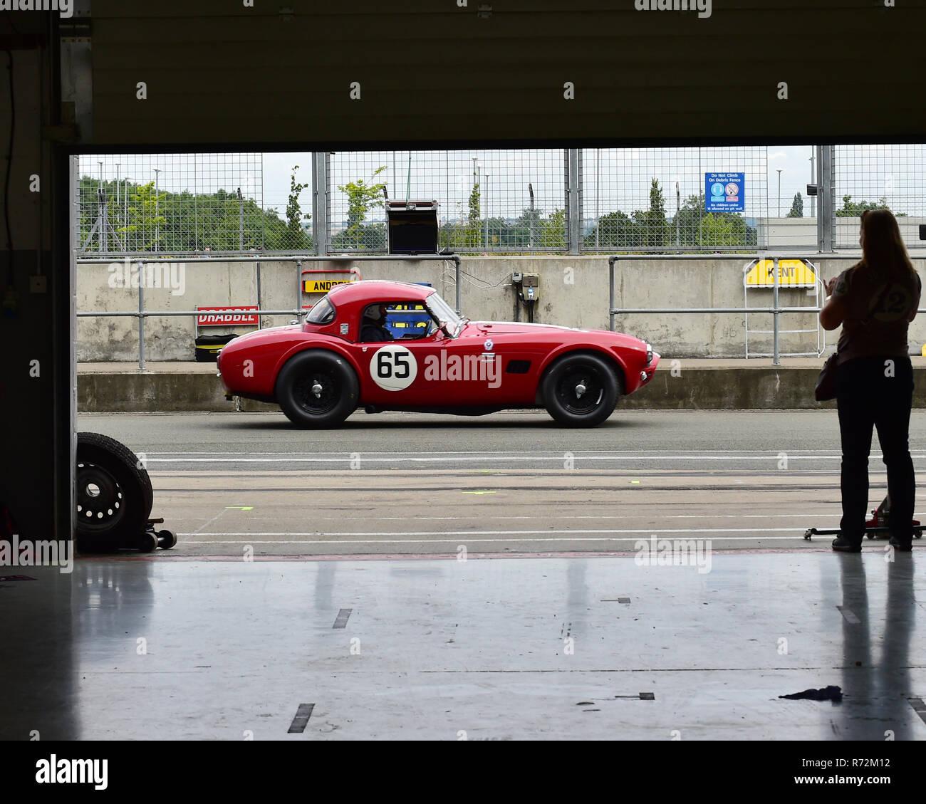 Patrick Blakeney-Edwards, Martin Hunt, AC Cobra, RAC Tourist Trophy, historic cars, pre-63 GT, Silverstone Classic 2016, 60's cars, Chris McEvoy, cjm- - Stock Image