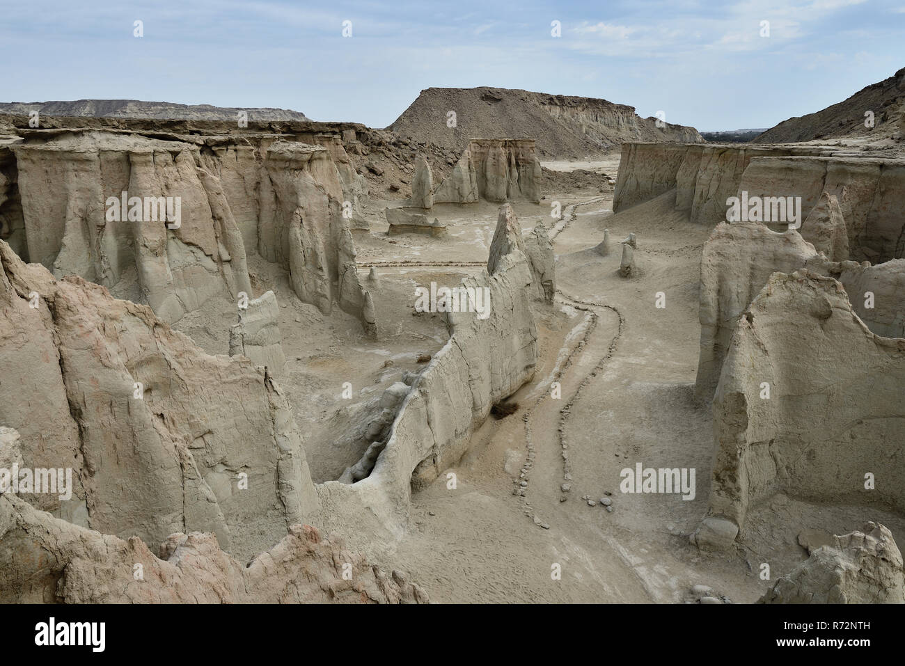 Wonderful rock formations created by the nature on the Stars Valley on the Qeshm island, Iran - Stock Image