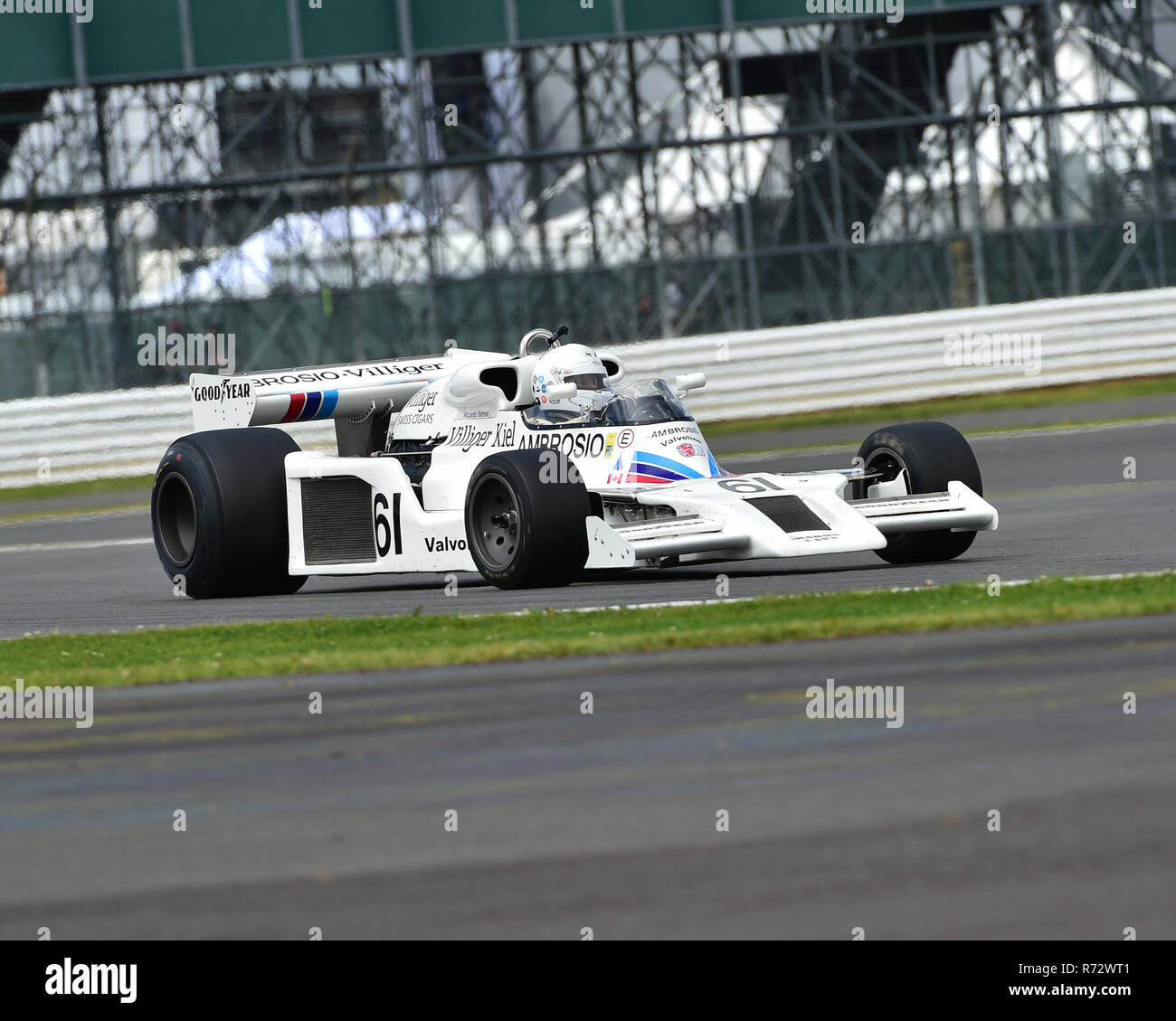 Jason Wright, Shadow DN8, FIA, Masters Historic Formula One, Silverstone Classic 2016, 60's cars, Chris McEvoy, cjm-photography, Classic Racing Cars,  - Stock Image