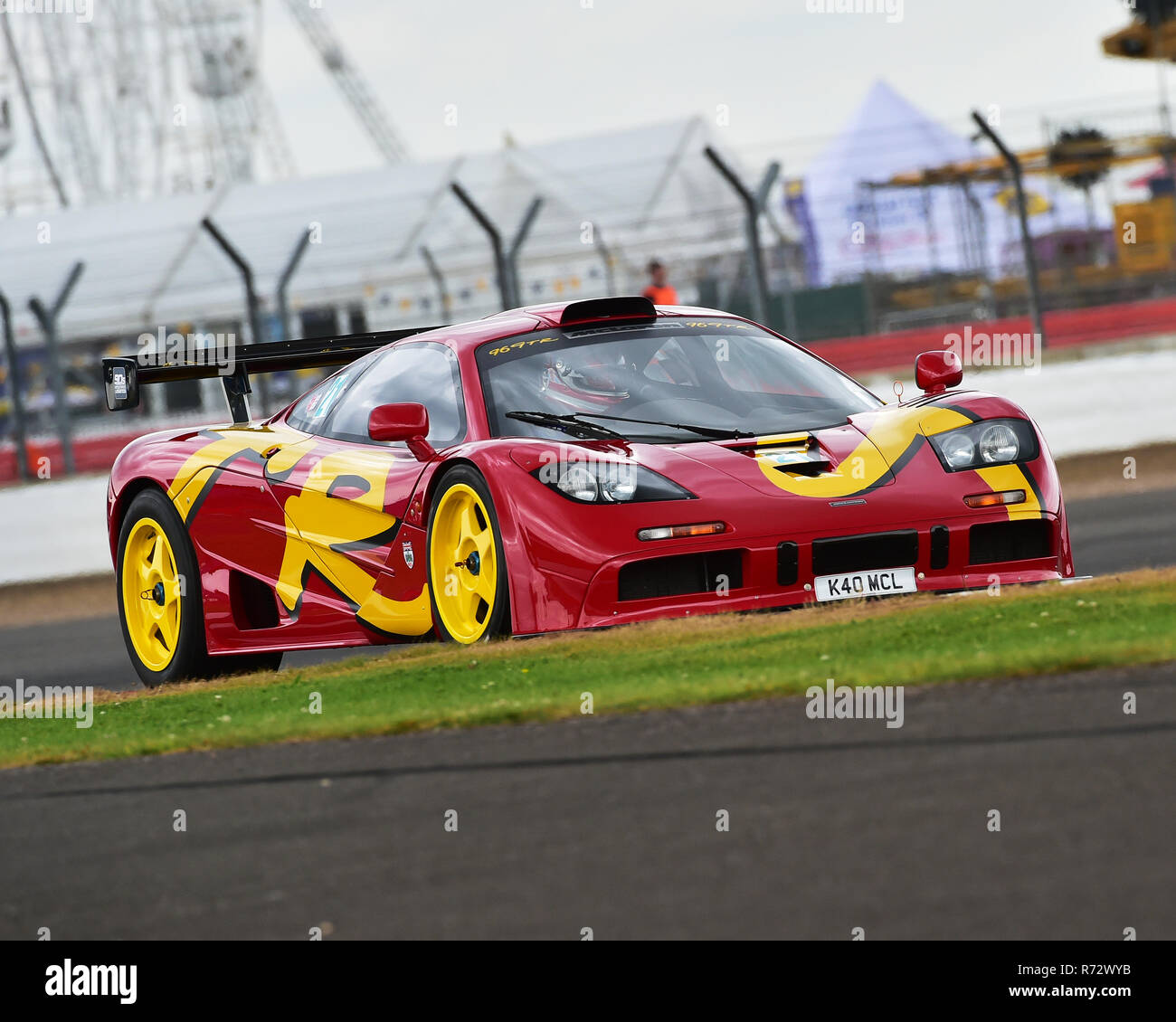 Charles Knill Jones, McLaren F1 GTR, 90's Endurance Legends, Silverstone Classic 2016, 60's cars, Chris McEvoy, cjm-photography, Classic Racing Cars,  - Stock Image