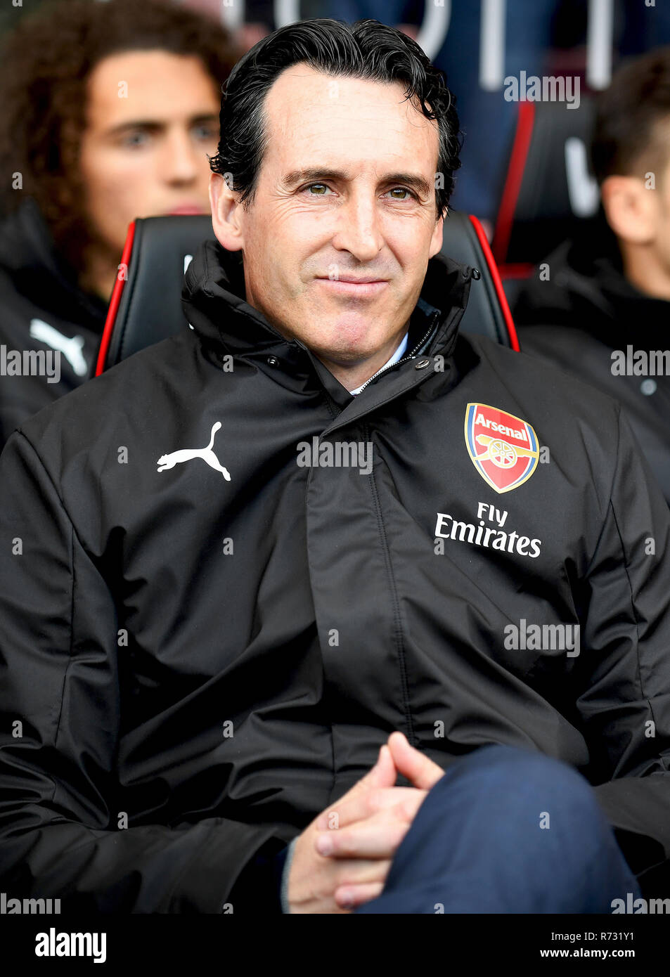 Manager of Arsenal, Unai Emery - AFC Bournemouth v Arsenal, Premier League, Vitality Stadium, Bournemouth - 25th November 2018  Editorial Use Only - D - Stock Image