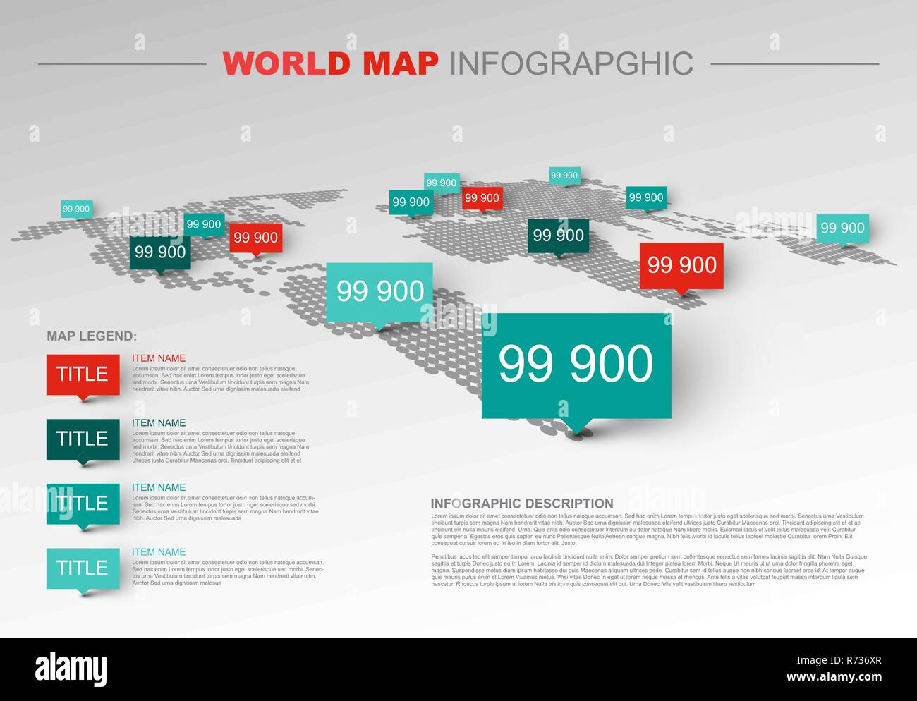 Light World map infographic template with pointer marks ... on map of all of europe, map charts, map with mountains, map facebook covers, map travel, map sea monster, map google, map of america, map from europe, map virginia usa, map of african ethnic groups, map miami fl, map in spanish, map with legend, map norms, map of european ethnic groups, map in minecraft, map photography, map making, map print,