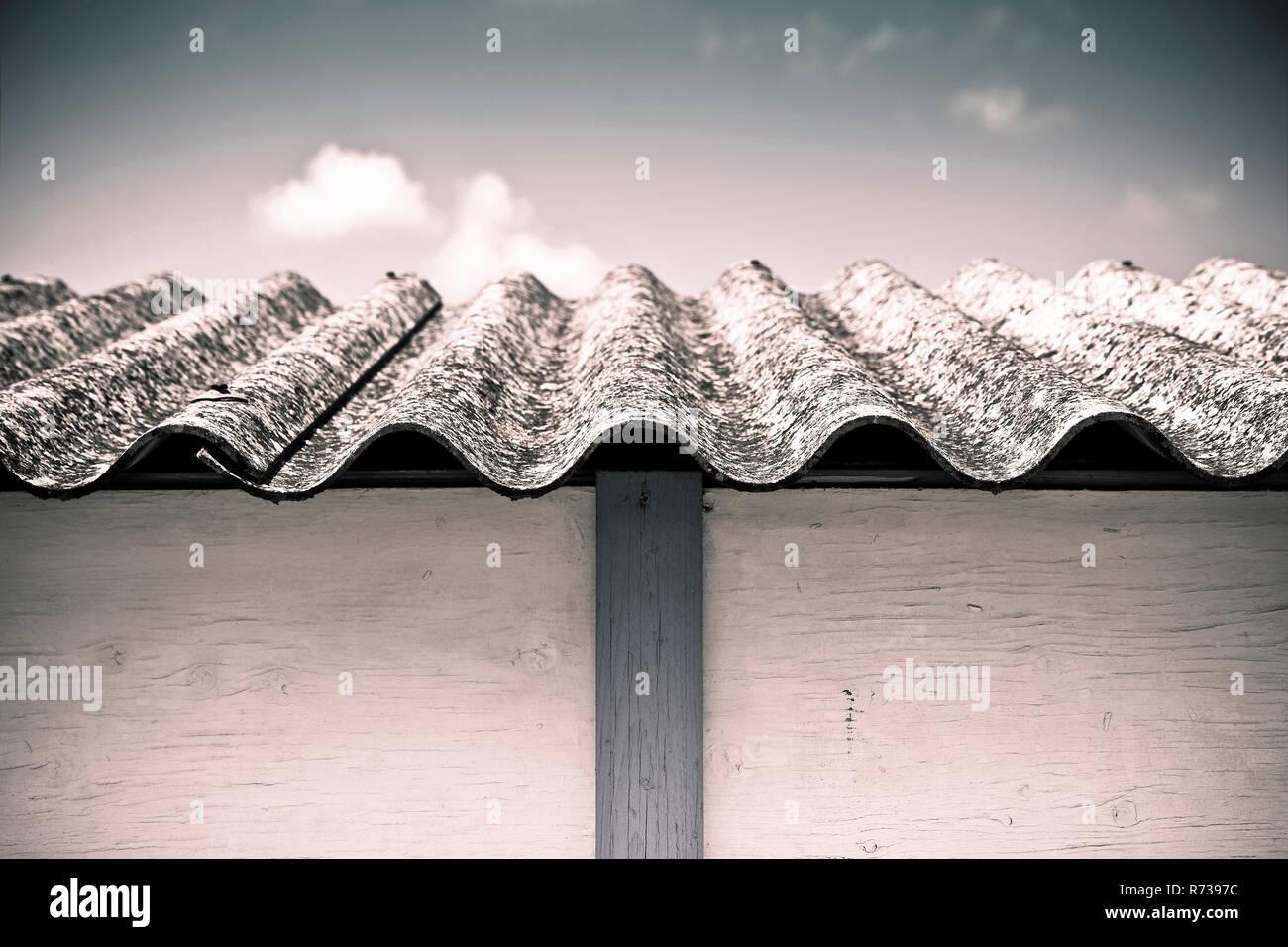 Dangerous asbestos roof - Medical studies have shown that