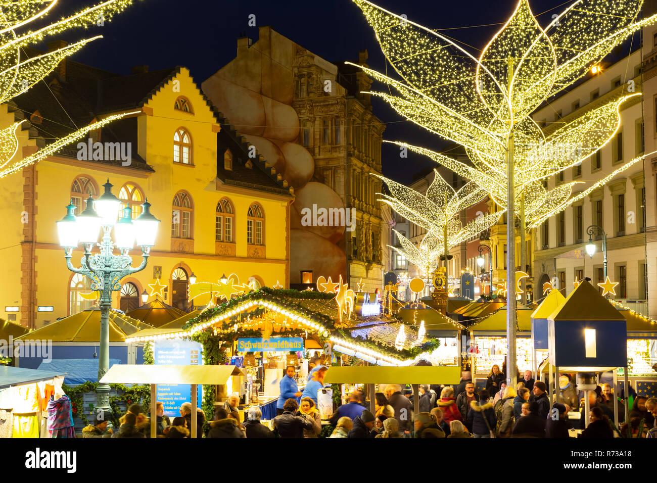 Christmas Market Sternschnuppenmarkt In Wiesbaden Germany 2018