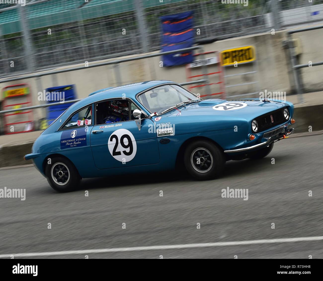 Matthew Draper, Nicholas James, Fletcher Ogle SX1000, RAC Tourist Trophy, historic cars, pre-63 GT, Silverstone Classic 2016, 60's cars, Chris McEvoy, - Stock Image