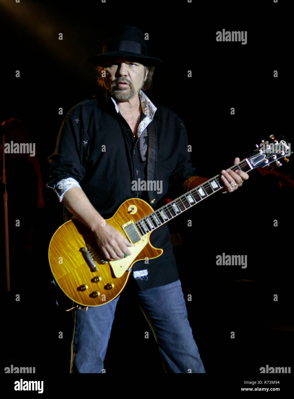 Gary Rossington of Lynyrd Skynyrd performs in concert at the Pompano Beach Amphitheater in Pompano Beach, Florida on April 14, 2007. Stock Photo