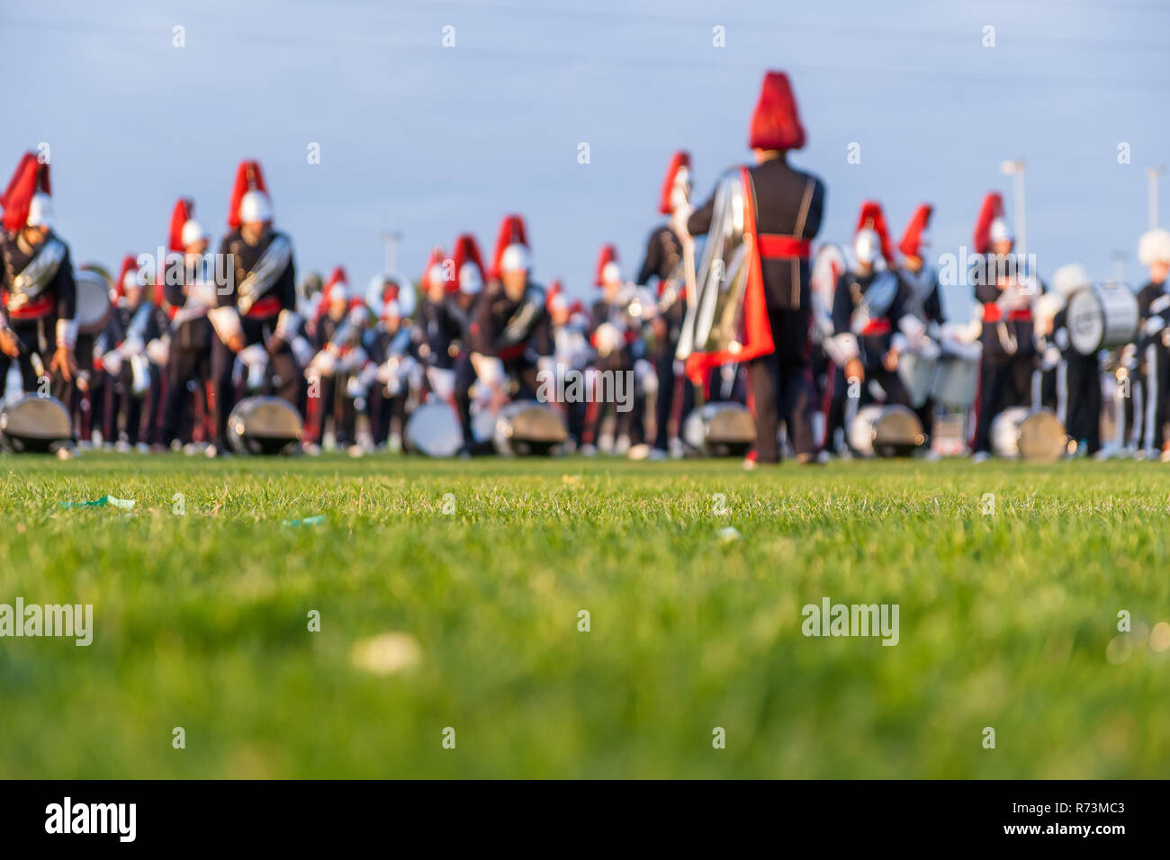 Details From A Music Show And Marching Band Defocused
