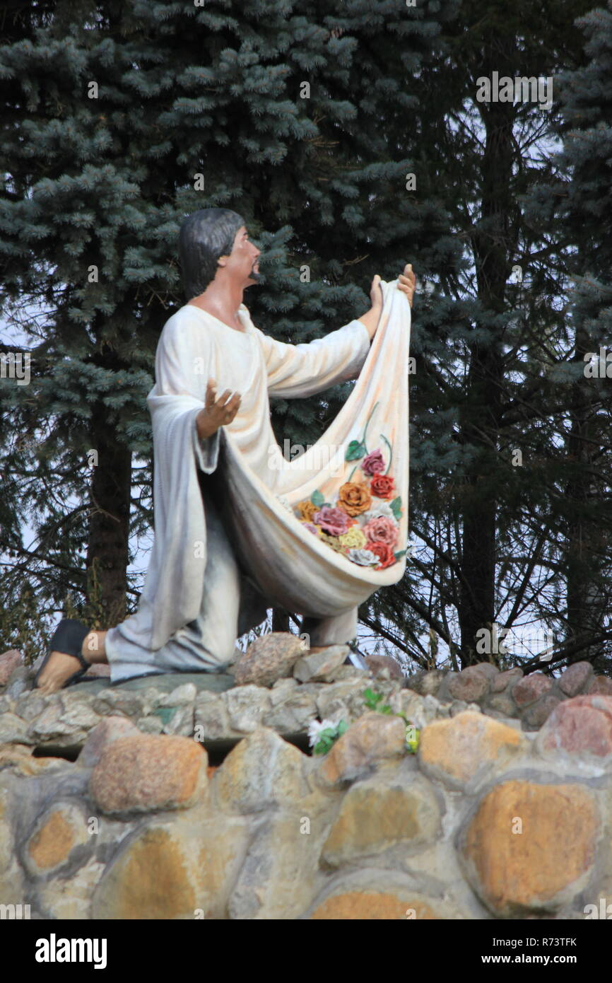 Our Lady of Guadalupe Shrine for Mexican immigrants and immigration in des Plaines, Illinois, Nuestra Señora de Guadalupe, Virgin of Guadalupe Stock Photo