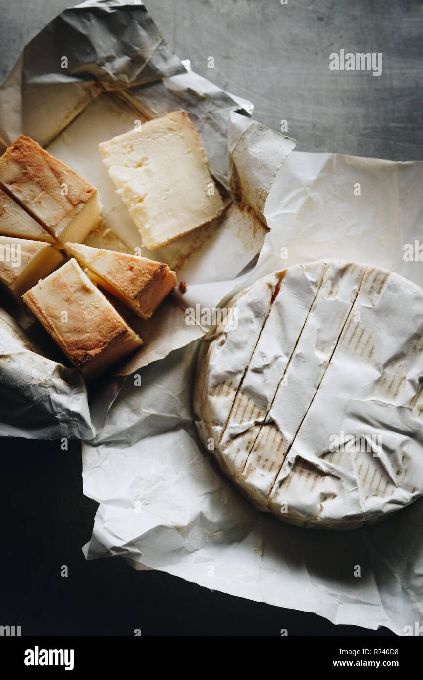Mash some camembert or brie with butter, season it and have it with a warm slice of bread. Obatzter really is Bavarian comfort food! - Stock Image