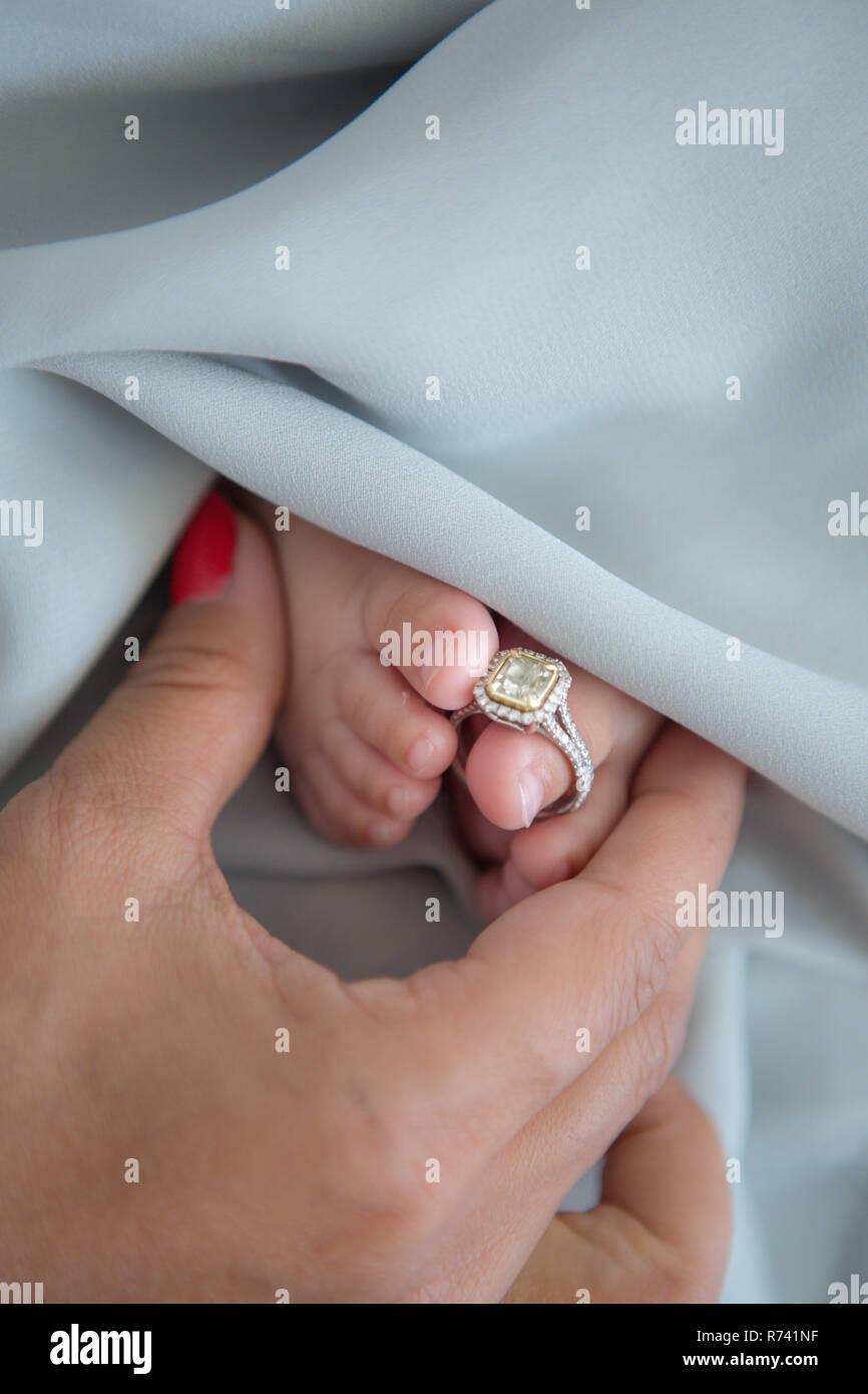 Newborn photography - Stock Image