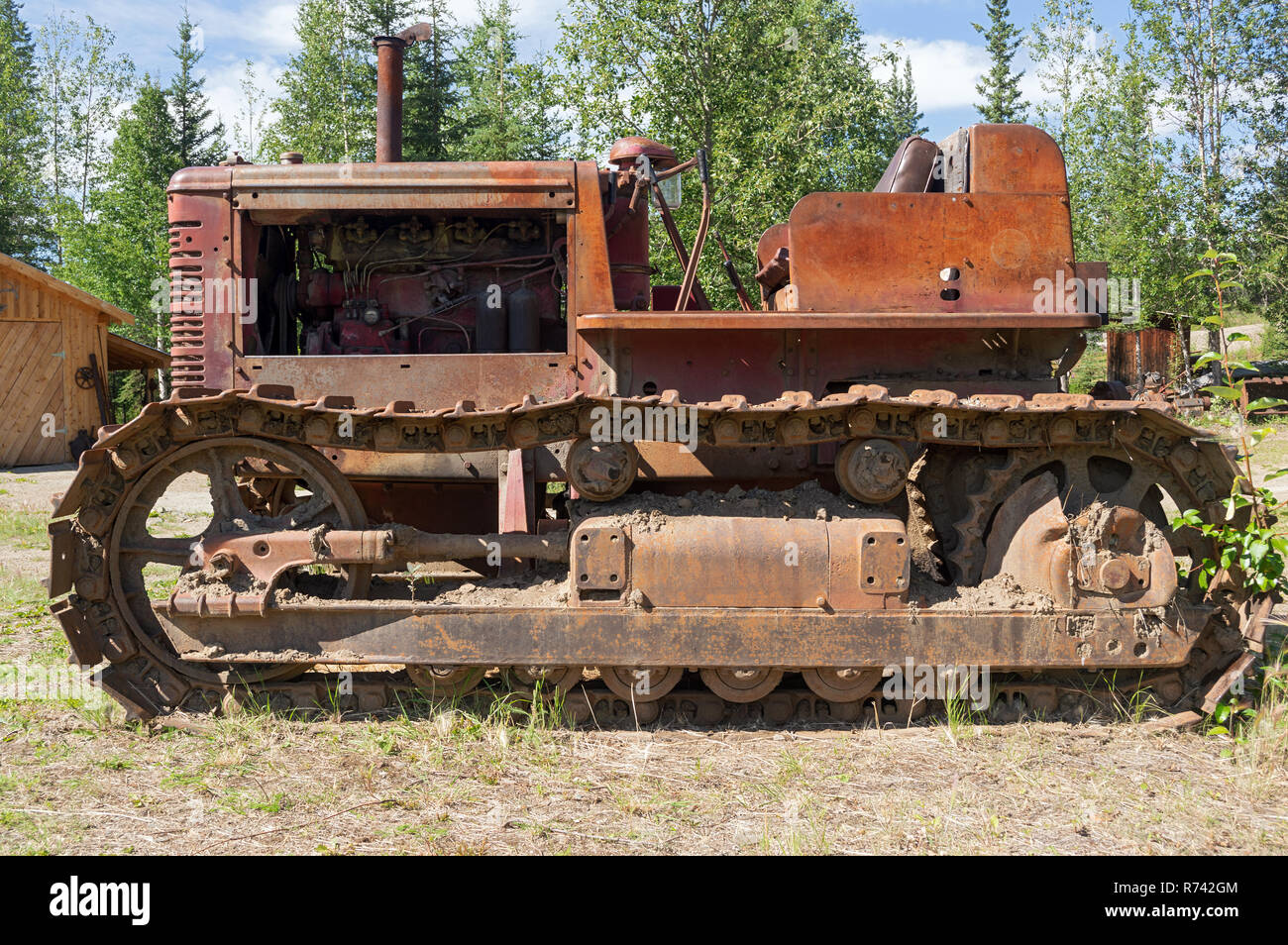 International Crawler tractor with continuous track - Stock Image