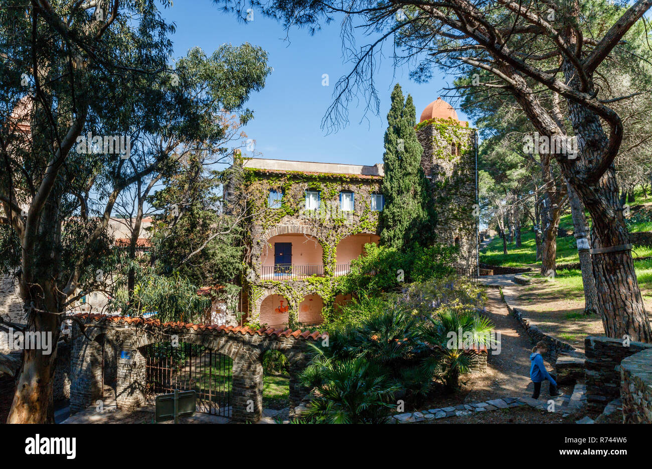 France, Pyrenees Orientales, Cote Vermeille, Collioure, Musee d'Art Moderne (Museum of modern Art) in the Pams park // France, Pyrénées-Orientales (66 - Stock Image