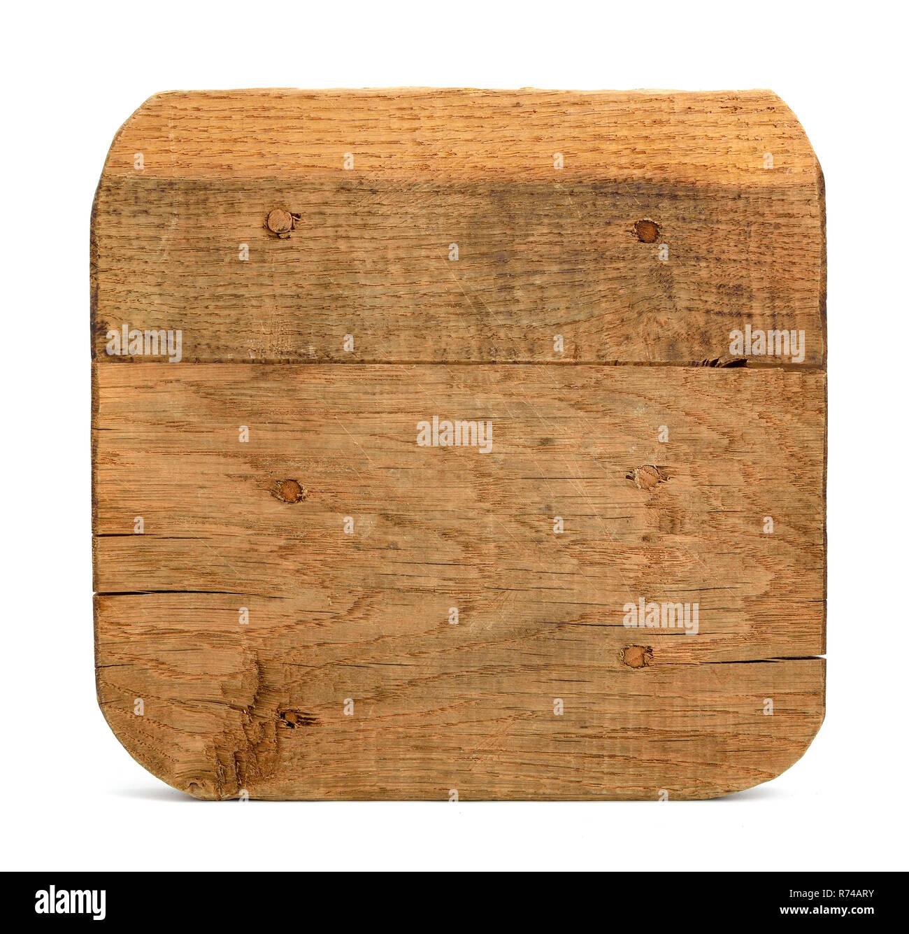 Oak board isolated. - Stock Image