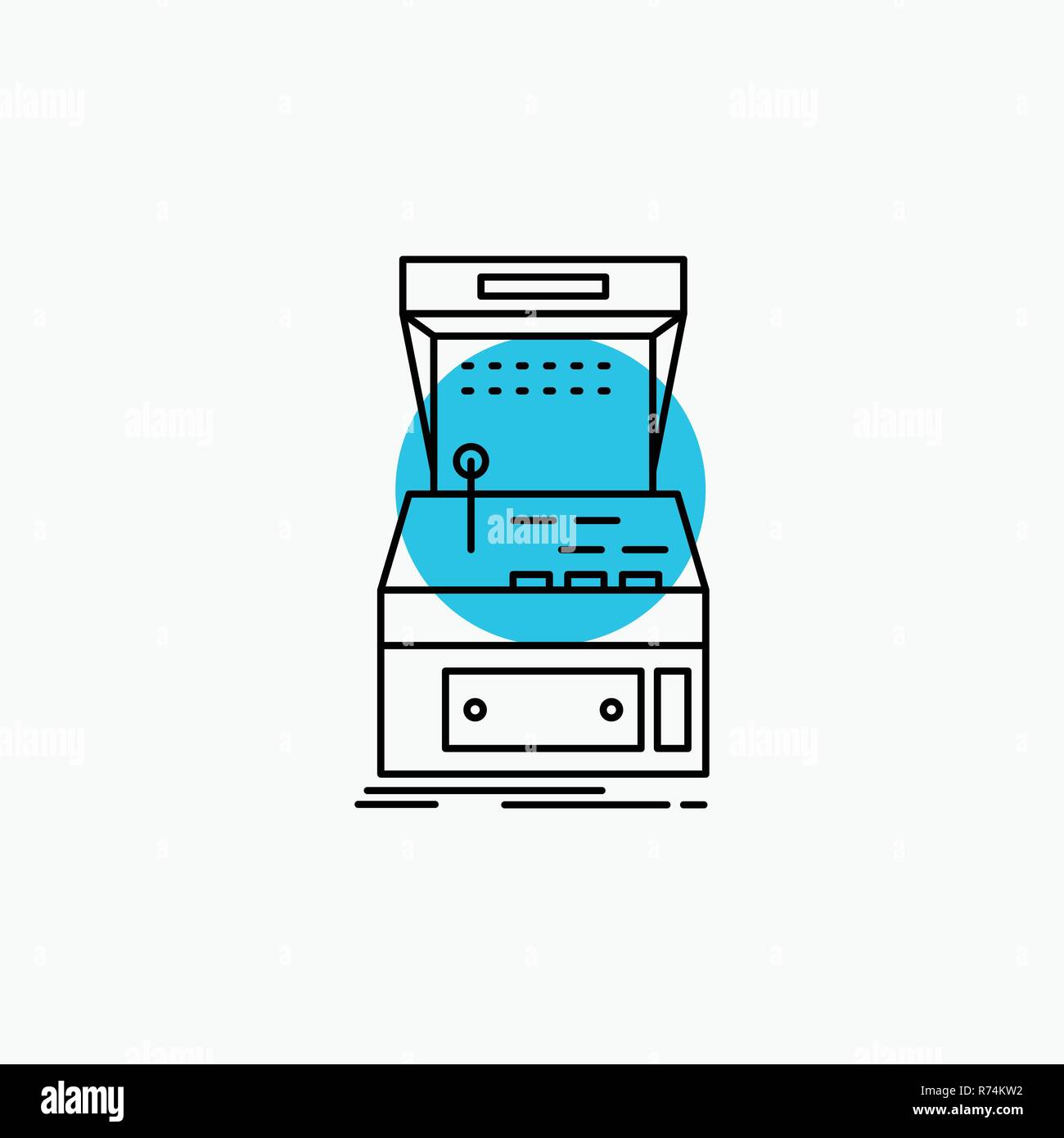 Arcade, console, game, machine, play Line Icon - Stock Vector
