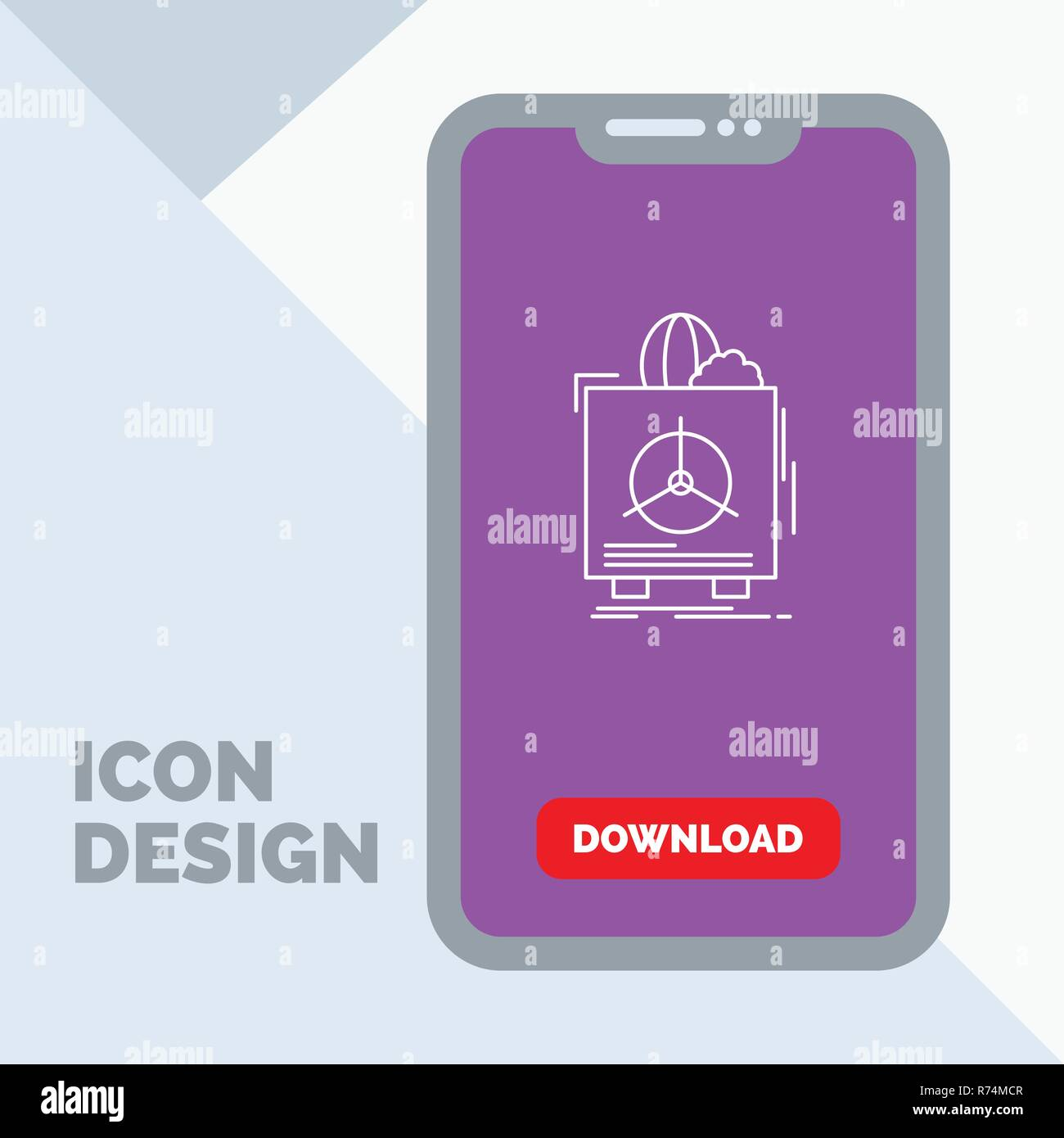 insurance, Fragile, product, warranty, health Line Icon in Mobile for Download Page - Stock Vector