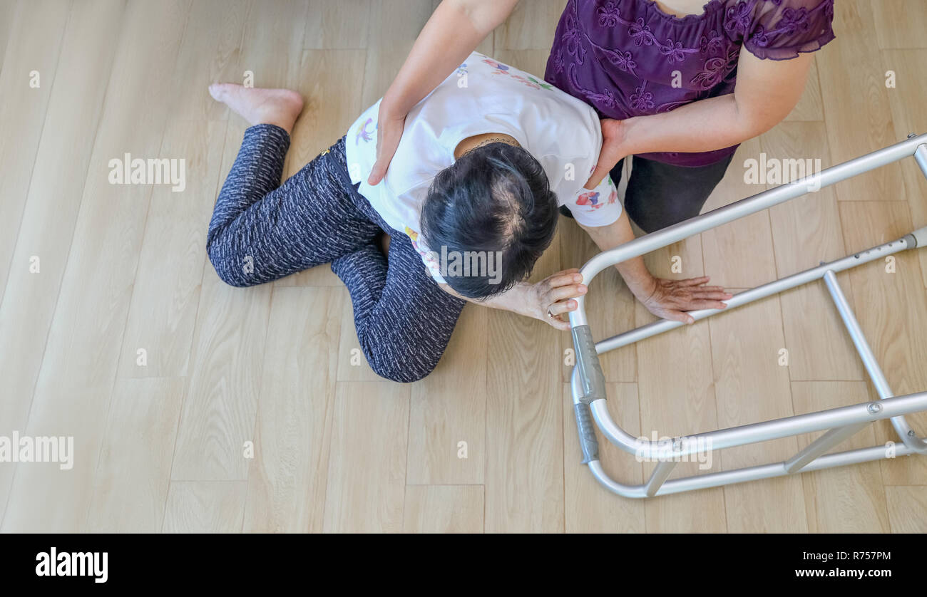 elderly woman falling down at home hearth attack stock photo rh alamy com at home down east at home down under