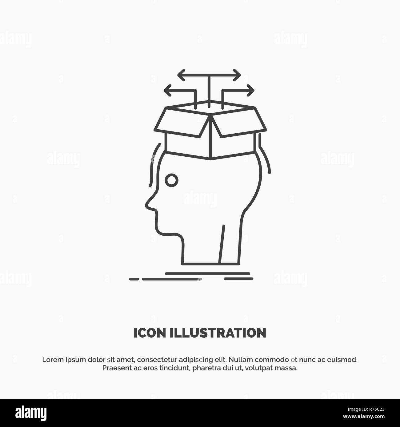Data Extraction Head Knowledge Sharing Icon Line Vector Gray Symbol For Ui And Ux Website Or Mobile Application Stock Vector Image Art Alamy