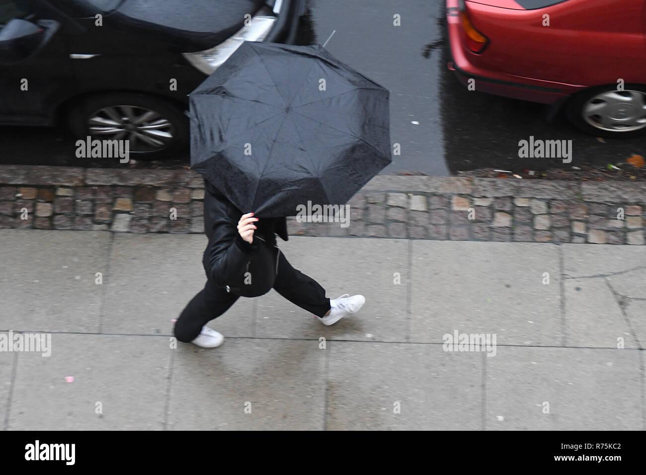 Copenhagen Denmark 08th December 2018 Rainy Weather Day In