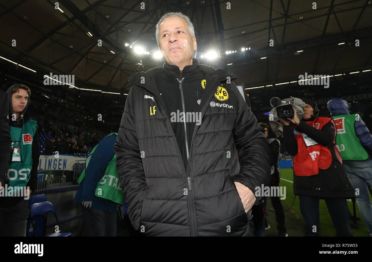 firo: 08.12.2018 Football, 1.Bundesliga, season 2018/2019 FC Schalke 04 - BVB Borussia Dortmund Lucien Favre Portrait   - Stock Image