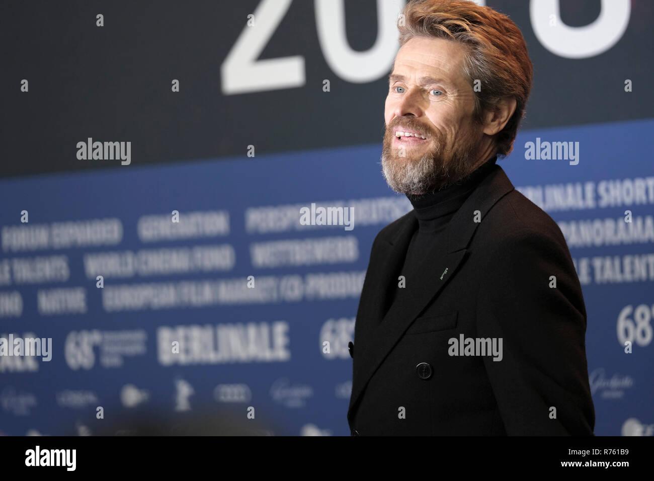 Willem Dafoe - Pressekonferenz, Berlinale 2018, 20. Februar 2018, Berlin. Stock Photo