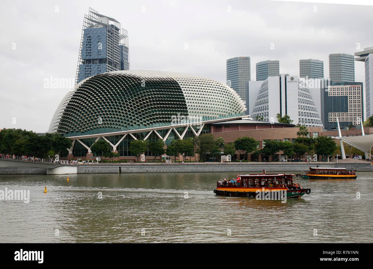 Hochhaeuser, Skyline, Singapur. - Stock Image