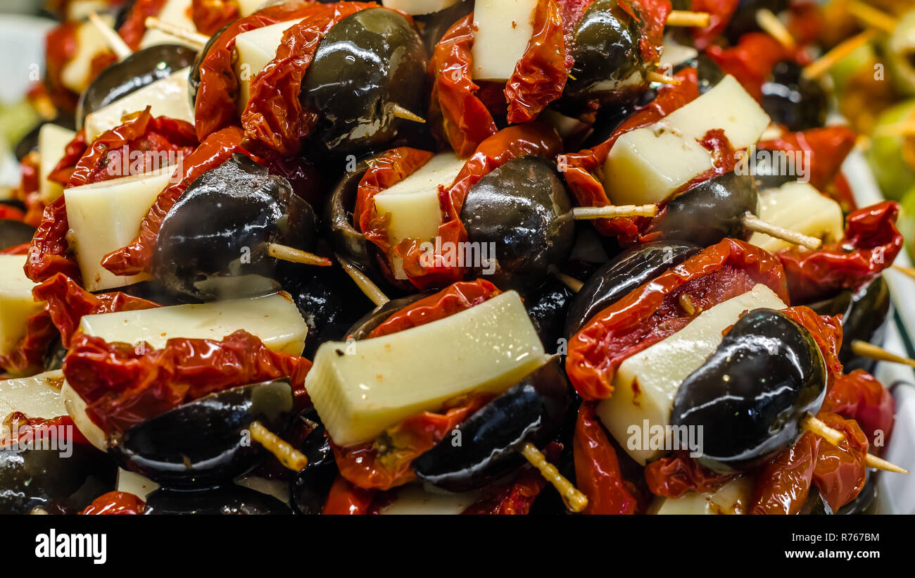 Typical Spanish Olive Tapas In A Bar Stock Photo 228174904 Alamy