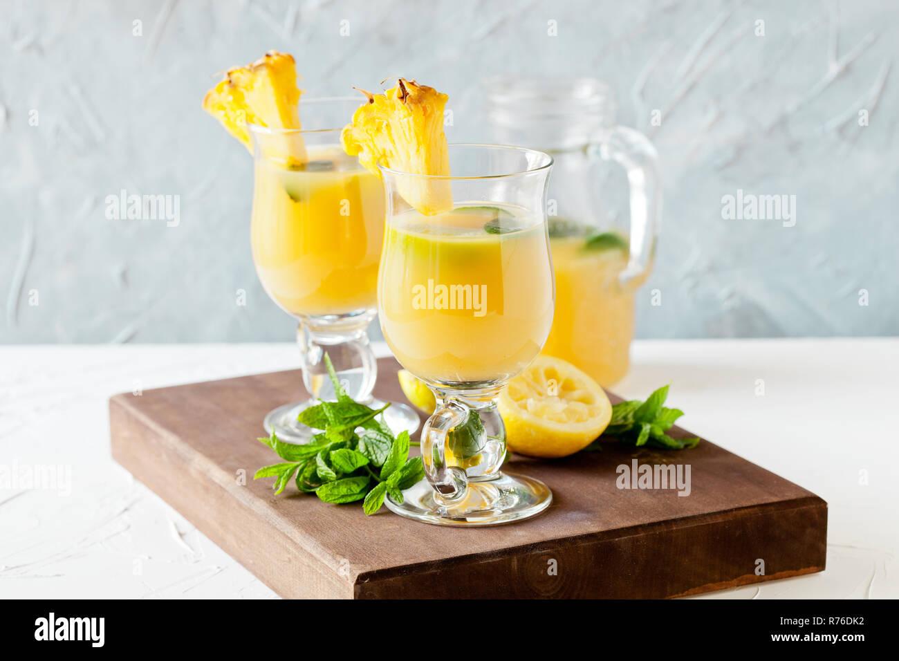 Refreshing Pineapple Juice Stock Photo