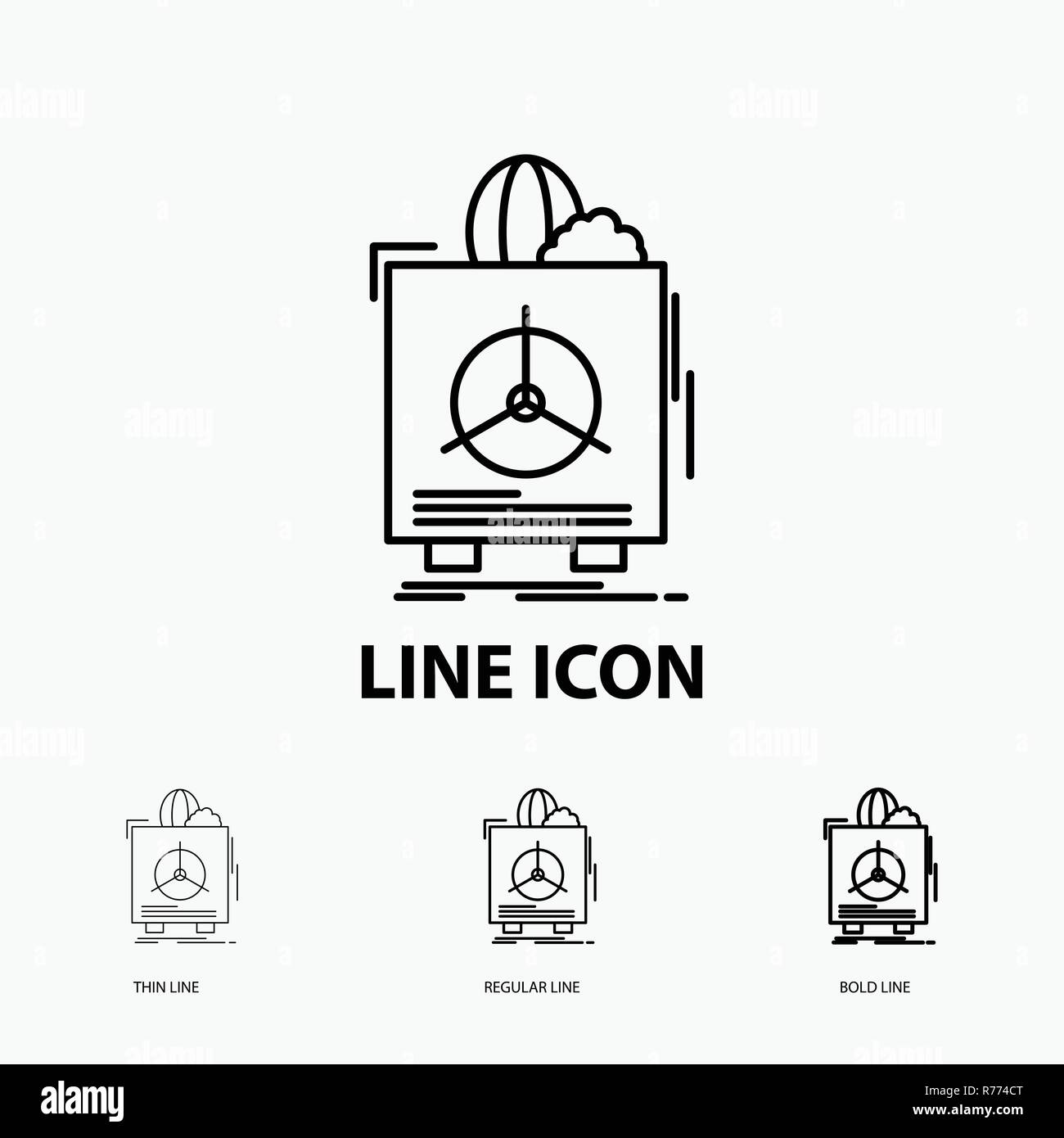 insurance, Fragile, product, warranty, health Icon in Thin, Regular and Bold Line Style. Vector illustration - Stock Vector