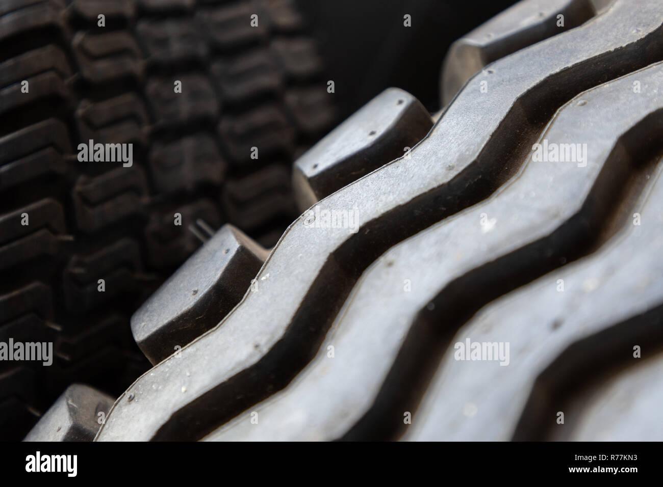 closeup of tire tread - Stock Image