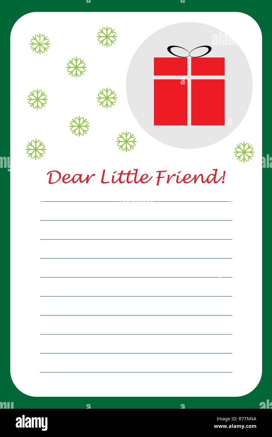 Christmas Letter From Santa Claus For Children Template