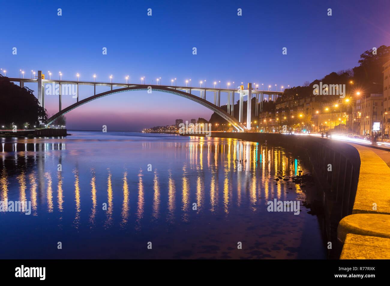 Ponte da Arrabida Bridge in Porto, Portugal Stock Photo