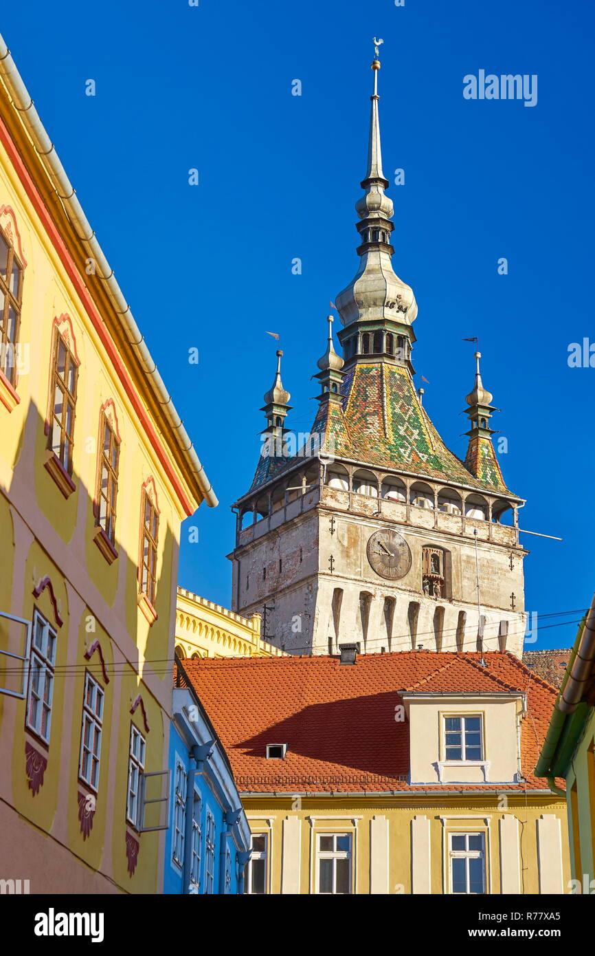 Sighisoara old town, Transylvania, Romania Stock Photo