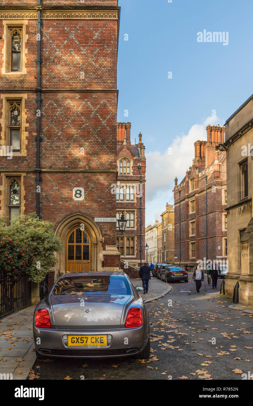 London November 2018. A view of architecture at Lincolns inn Fields chambers in London - Stock Image