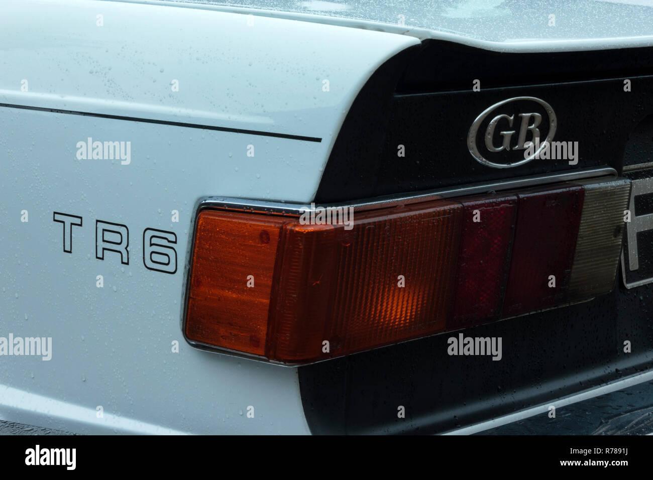 Triumph TR6 Rear Wing - Stock Image