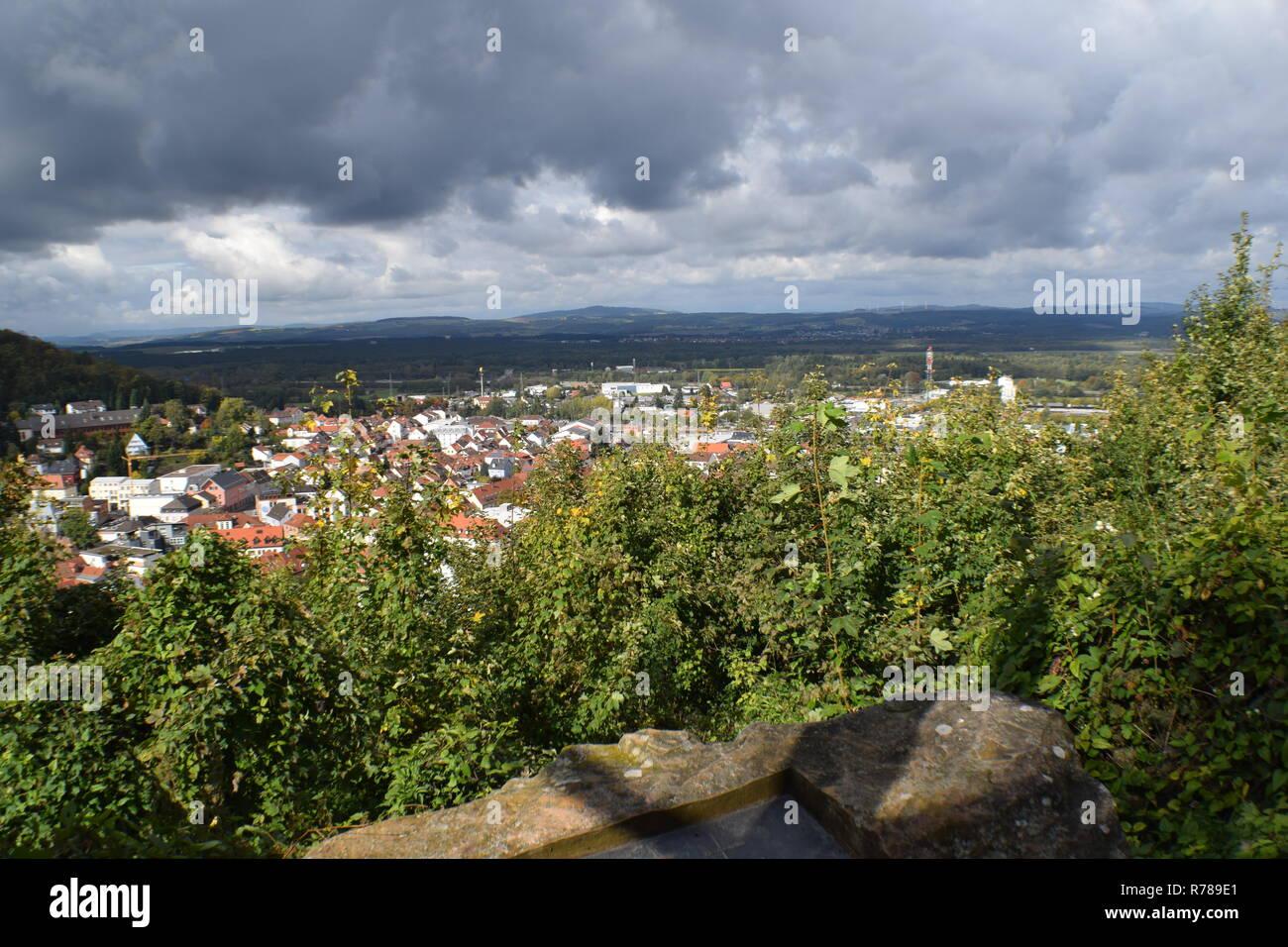 Blick auf Landstuhl - Stock Image