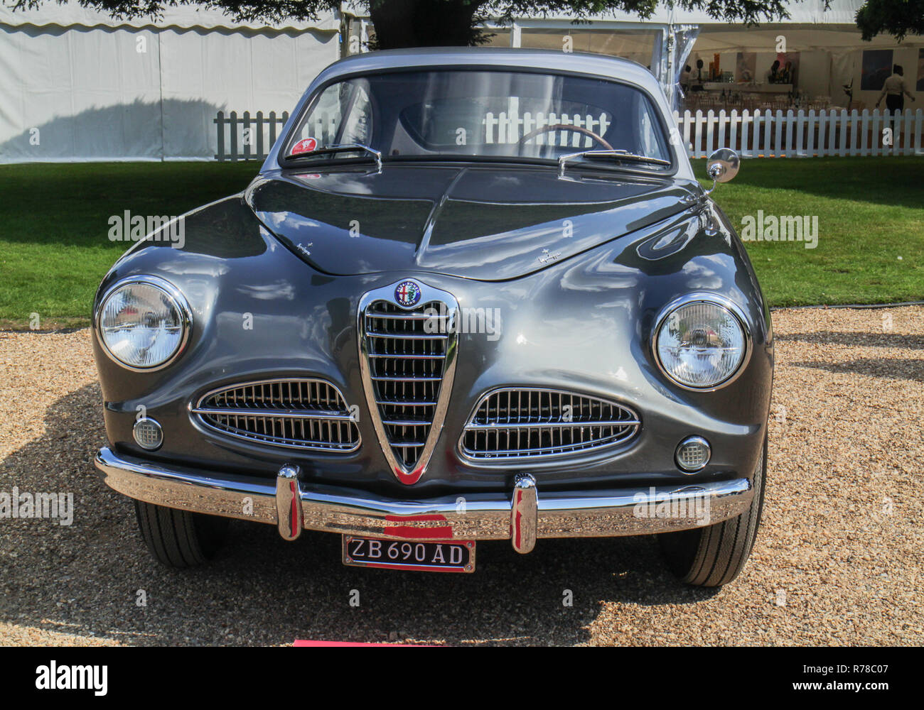 A 1952 Alfa Romeo 1900  'Pre - series' Sprint Coupe at the Concours of Elegance 2018 at Hanpton Court Palace, East Molesey, Surrey - Stock Image